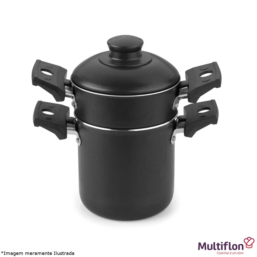 Mini Cuscuzeira Individual Antiaderente - Multiflon
