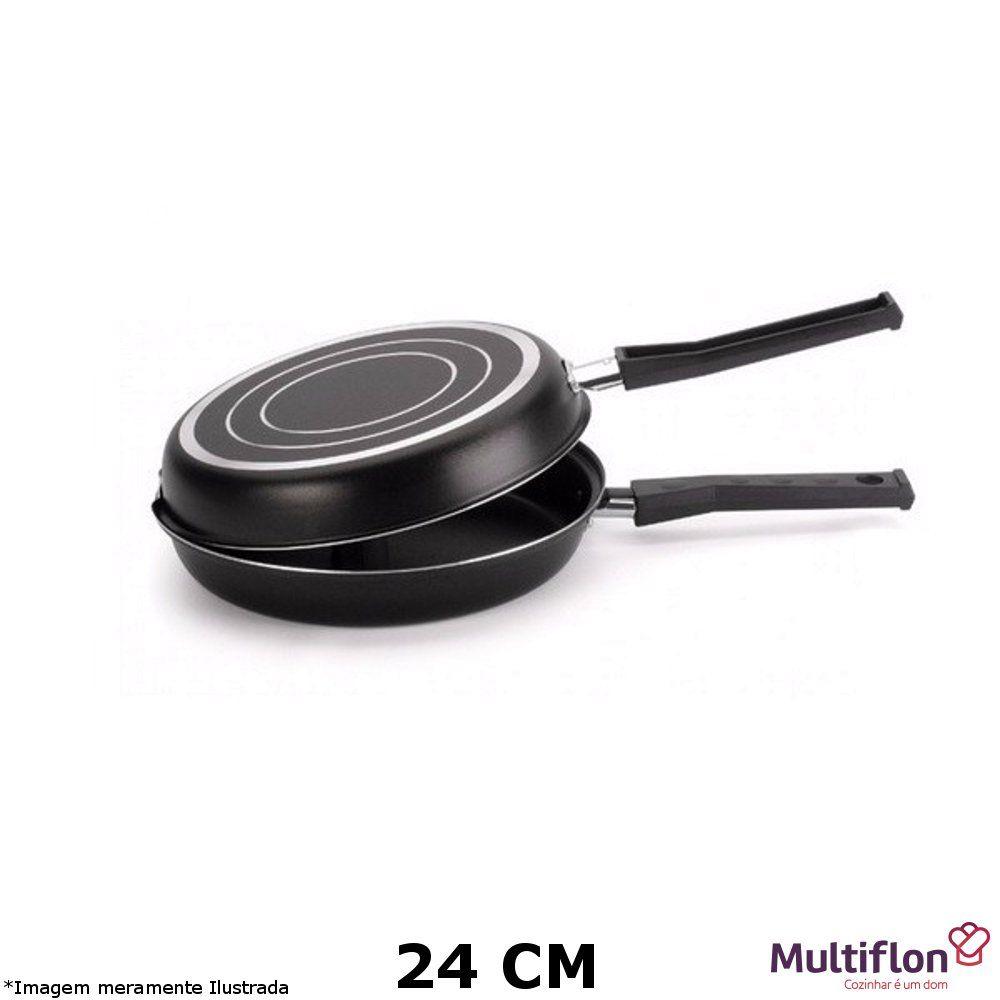 Omeleteira Teflon Gourmet Vapore 24 cm - Multiflon
