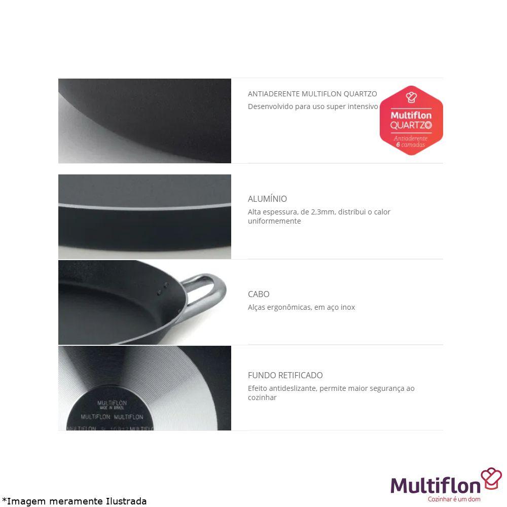 Paellera Antiaderente Profissional 46 cm - Multiflon