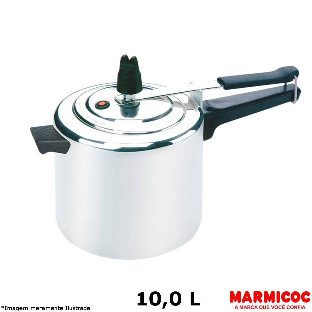 Panela de Pressão Alumínio 10,0 L - Marmicoc