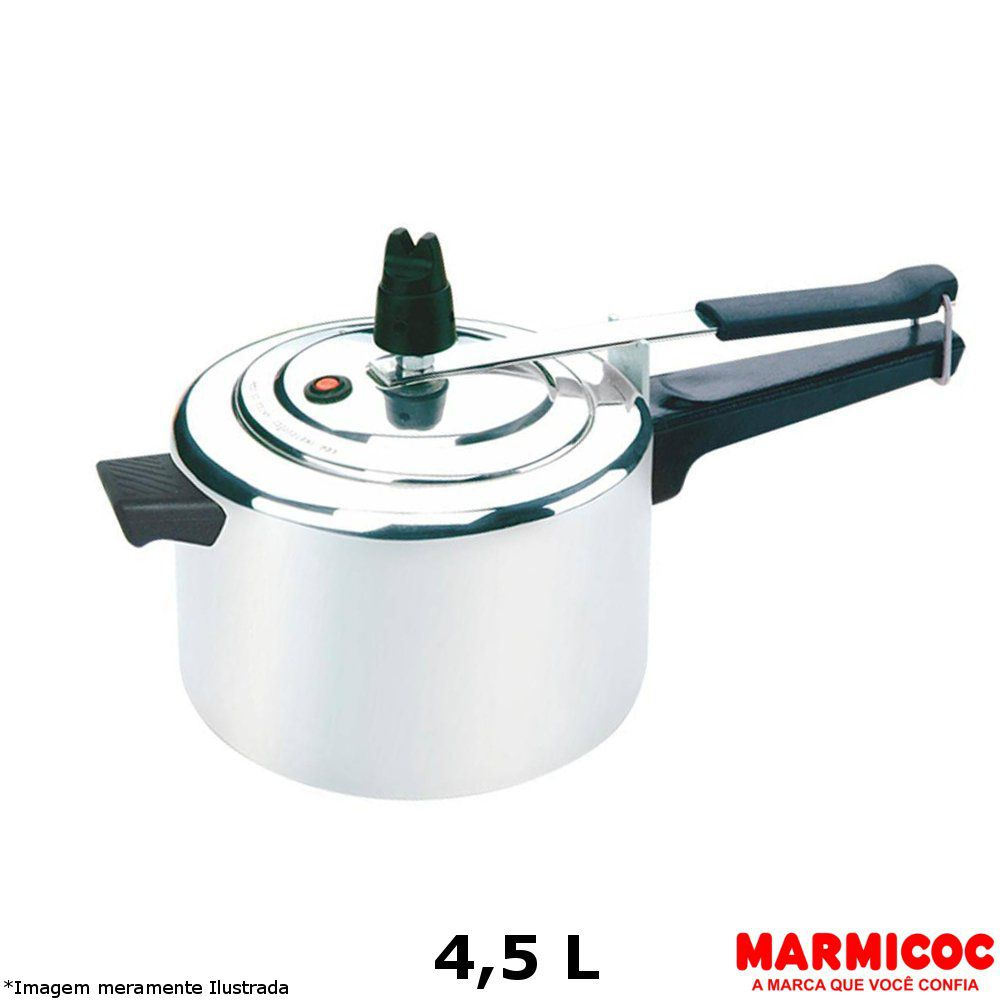 Panela de Pressão Alumínio 4,5 L - Marmicoc