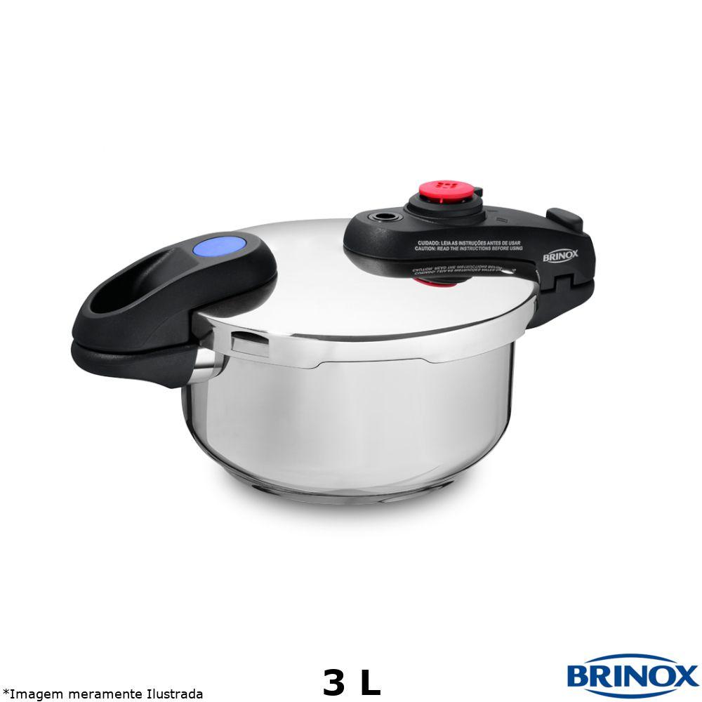 Panela de Pressão Inox 3,0 Litros Supra - Brinox