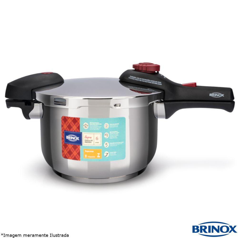 Panela de Pressão Inox 6,0 Litros Supra - Brinox