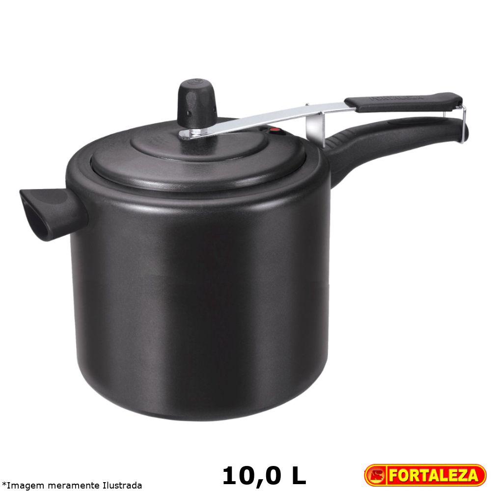 Panela de Pressão Teflon Black 10,0 L - Fortaleza