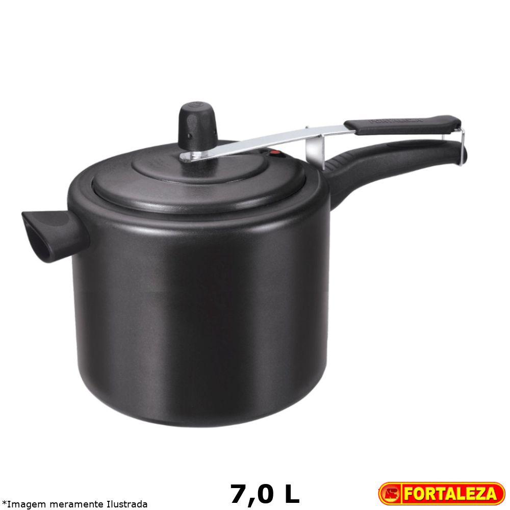 Panela de Pressão Teflon Black 7,0 L - Fortaleza