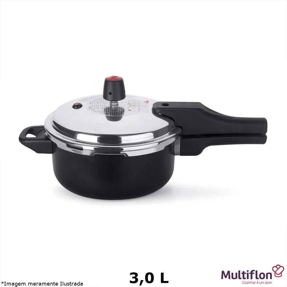 Panela de Pressão Teflon Quartzo 3,0 L - Multiflon