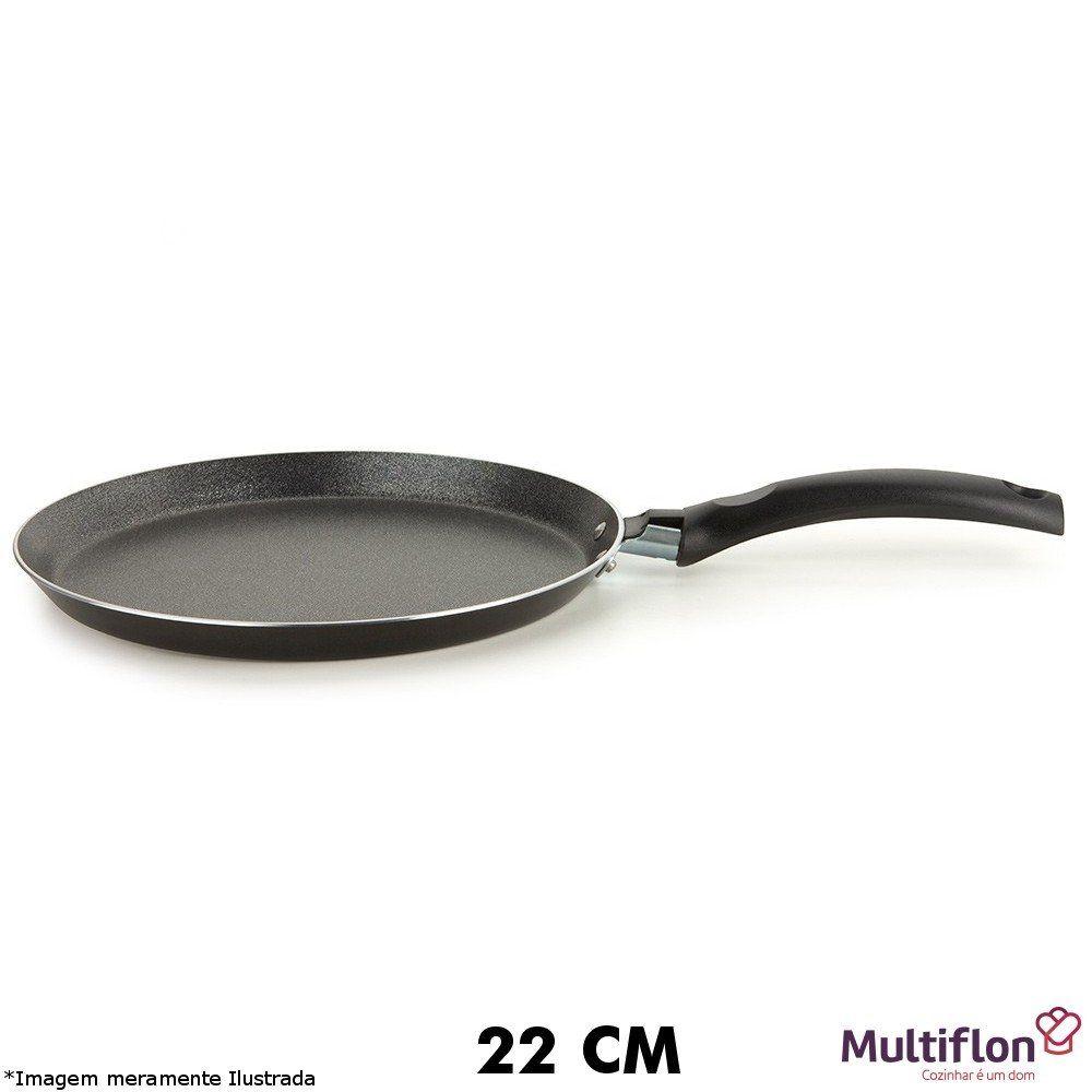 Panquequeira / Tapioqueira 22 cm Teflon Onix - Multiflon