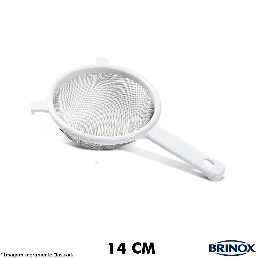 Peneira Inox 14 cm C/ Cabo ABS Top Pratic - Brinox