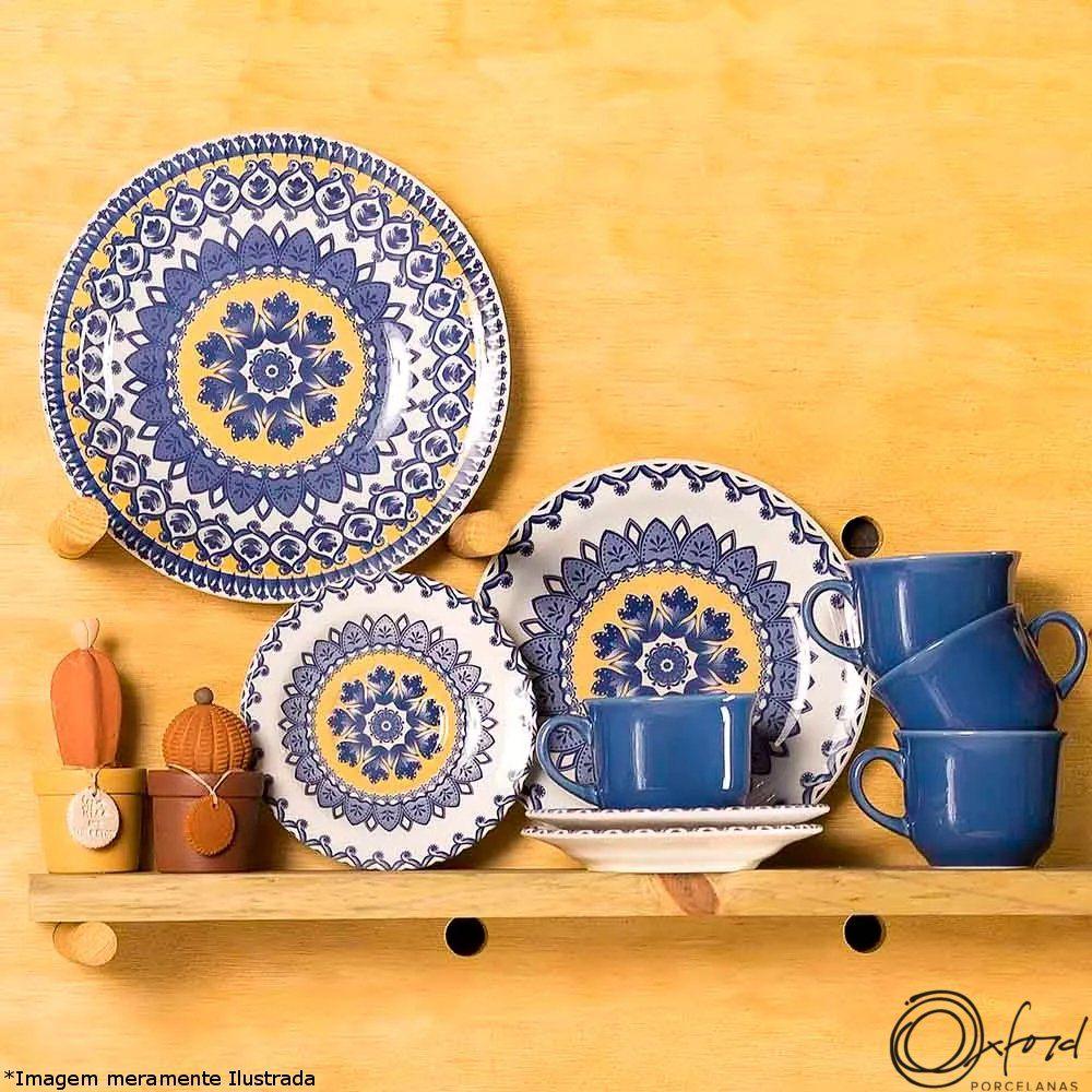 Prato Cerâmica Fundo Floreal La Carreta - Oxford