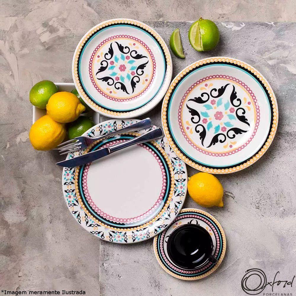 Prato Cerâmica Sobremesa Floreal Luiza - Oxford