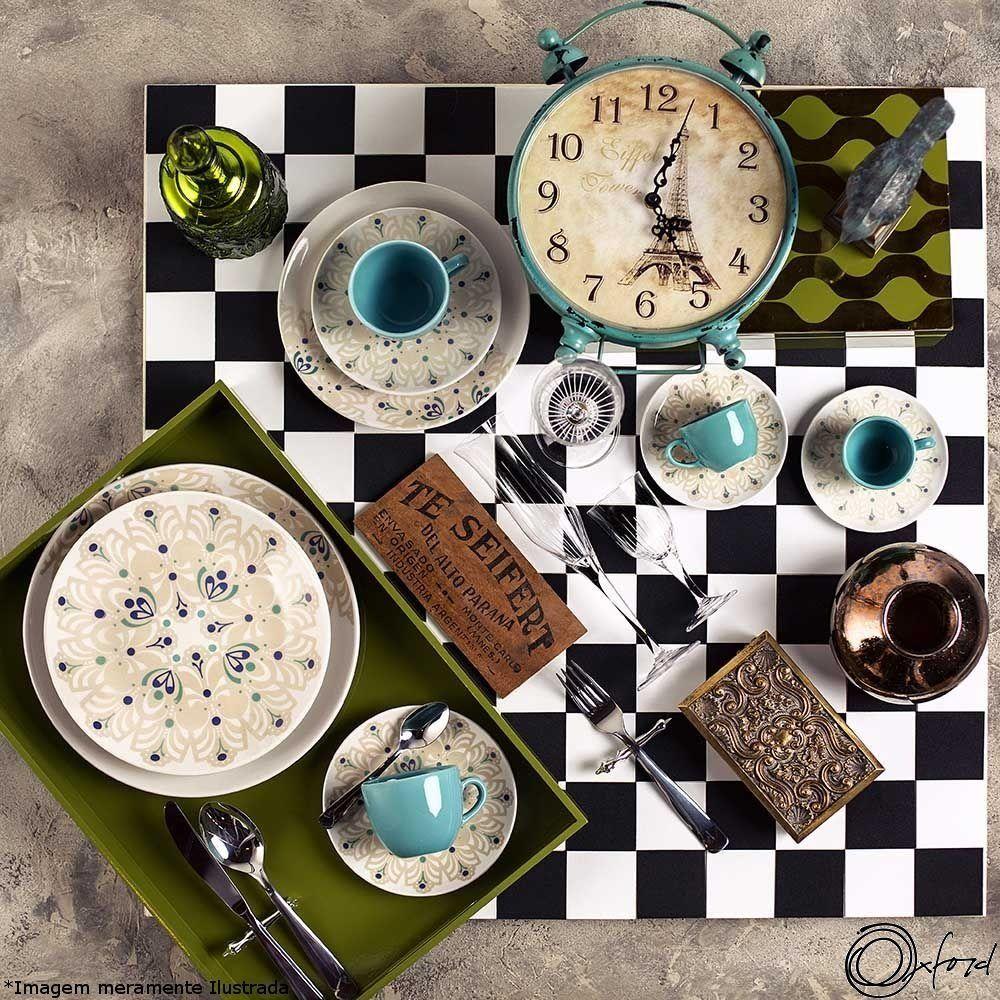 Prato Porcelana Sobremesa Lindy Hop - Oxford
