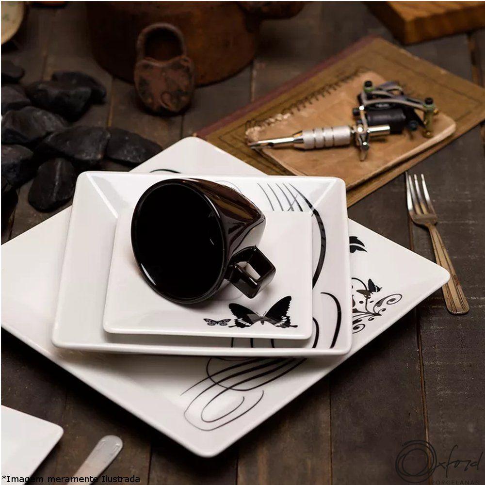 Prato Porcelana Sobremesa Quartier Tattoo - Oxford