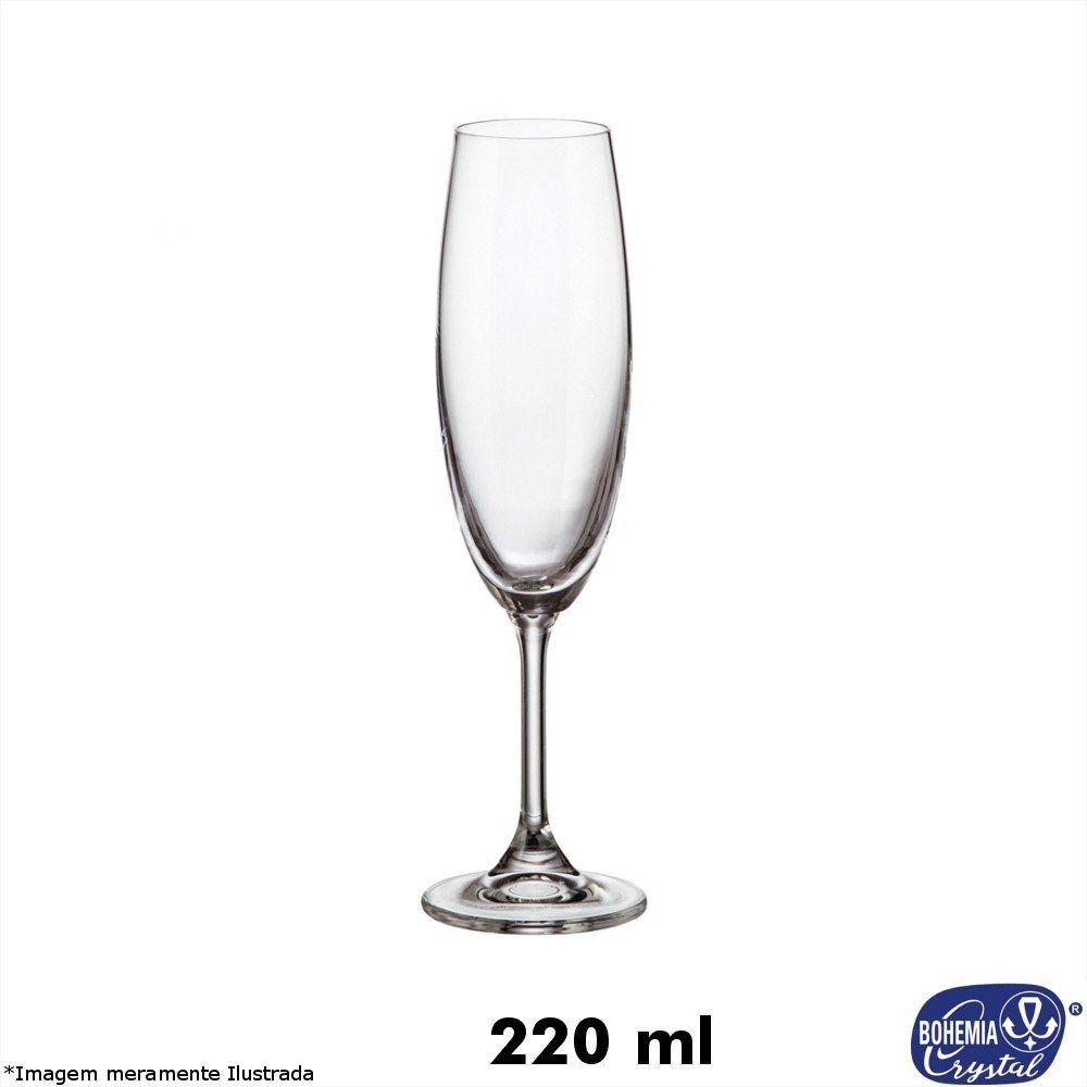 Taça Cristal Flauta Lara 220 ml - Bohemia