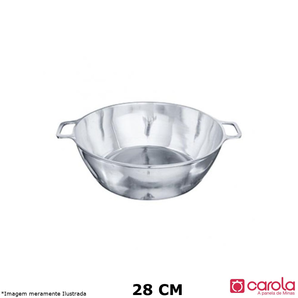 Tacho Alumínio Fundido s/ Tampa 28 cm - Metalúrgica Carola