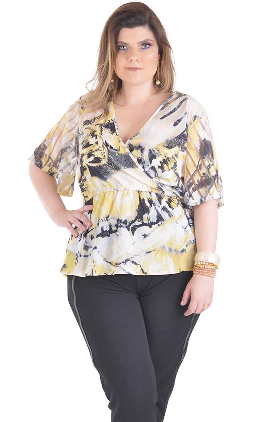 a8a663611 Blusa Plus Size Amarillho | Morezi Plus - Moda Feminina Curvy & Plus