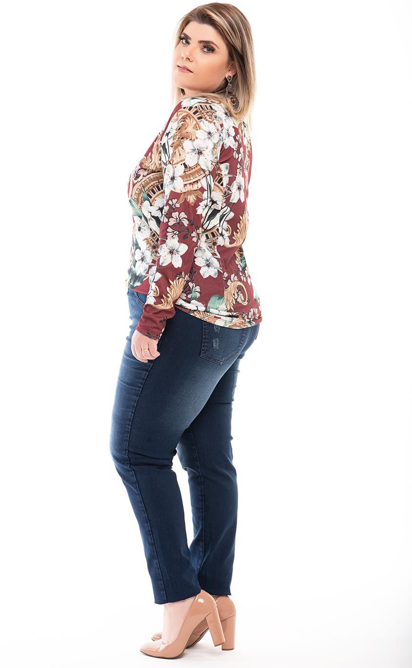 Blusa Plus Size Blumen