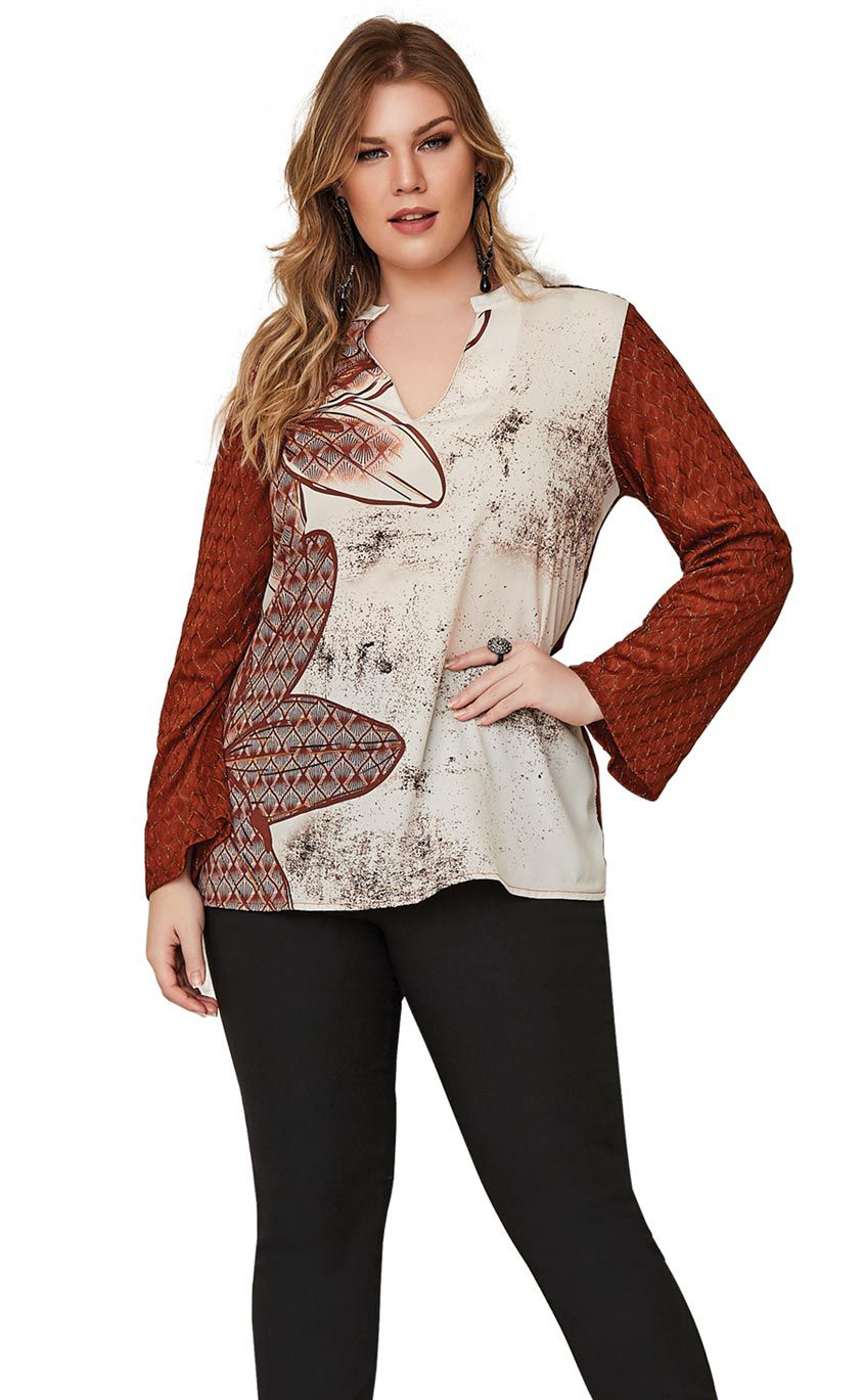 Blusa Plus Size Brune