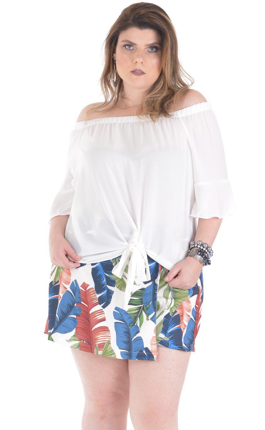 Blusa Plus Size Crape