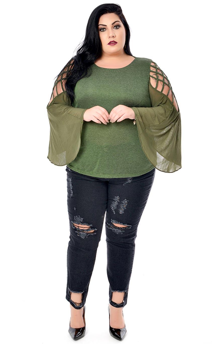 Blusa Plus Size Debrum