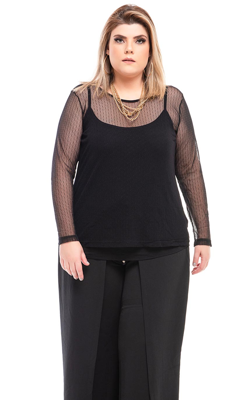 Blusa Plus Size Lace
