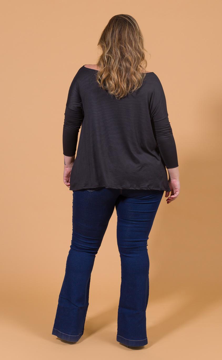 Blusa Plus Size Largo