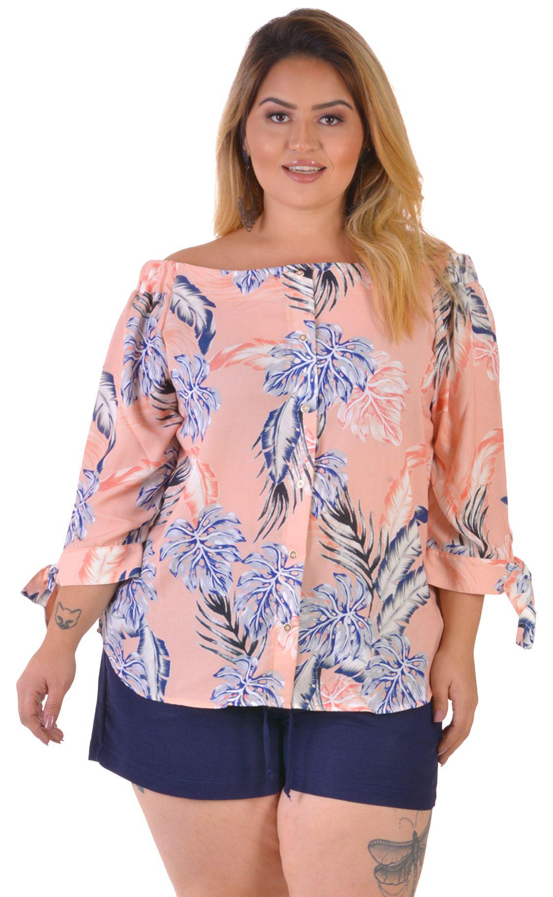 Blusa Plus Size Rosal