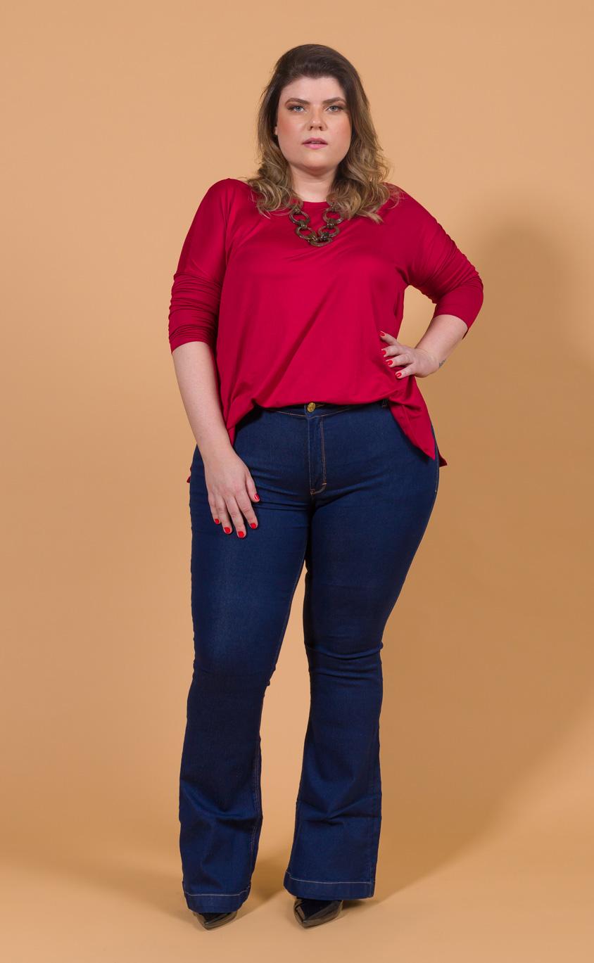 Blusa Plus Size Rosso