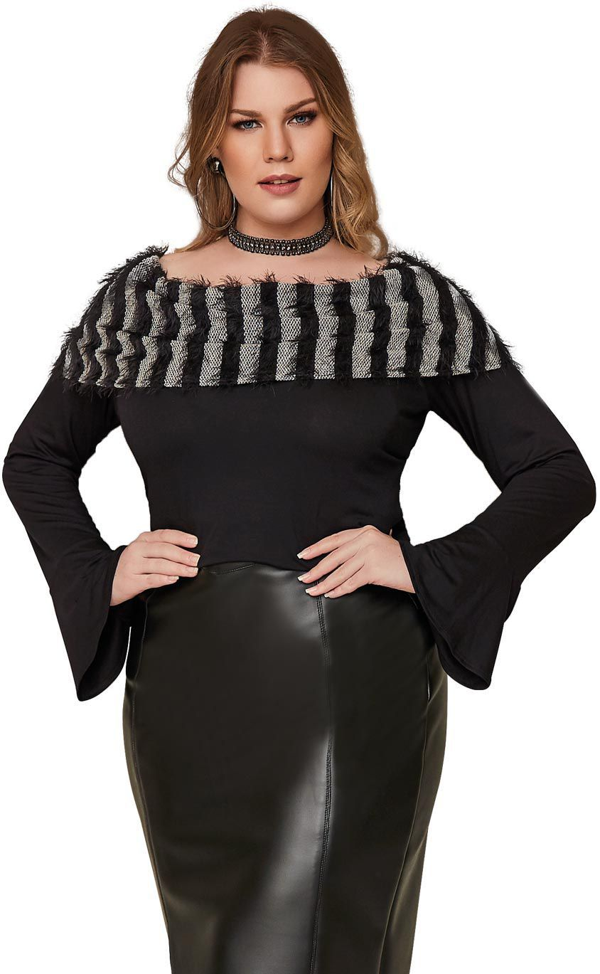 Blusa Plus Size Shaggy