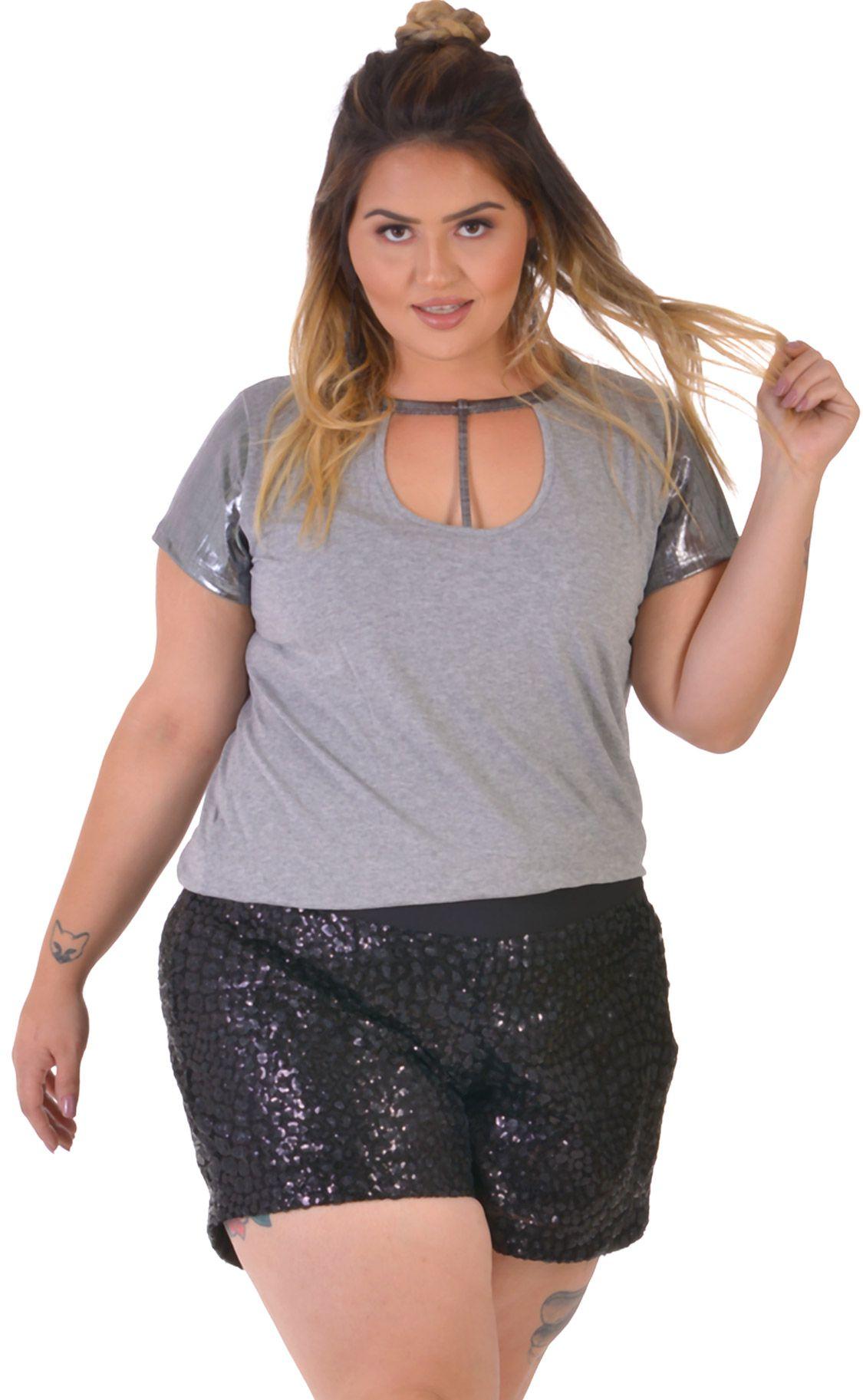 07271f0c1 Blusa Plus Size Silber | Morezi Plus - Moda Feminina Curvy & Plus
