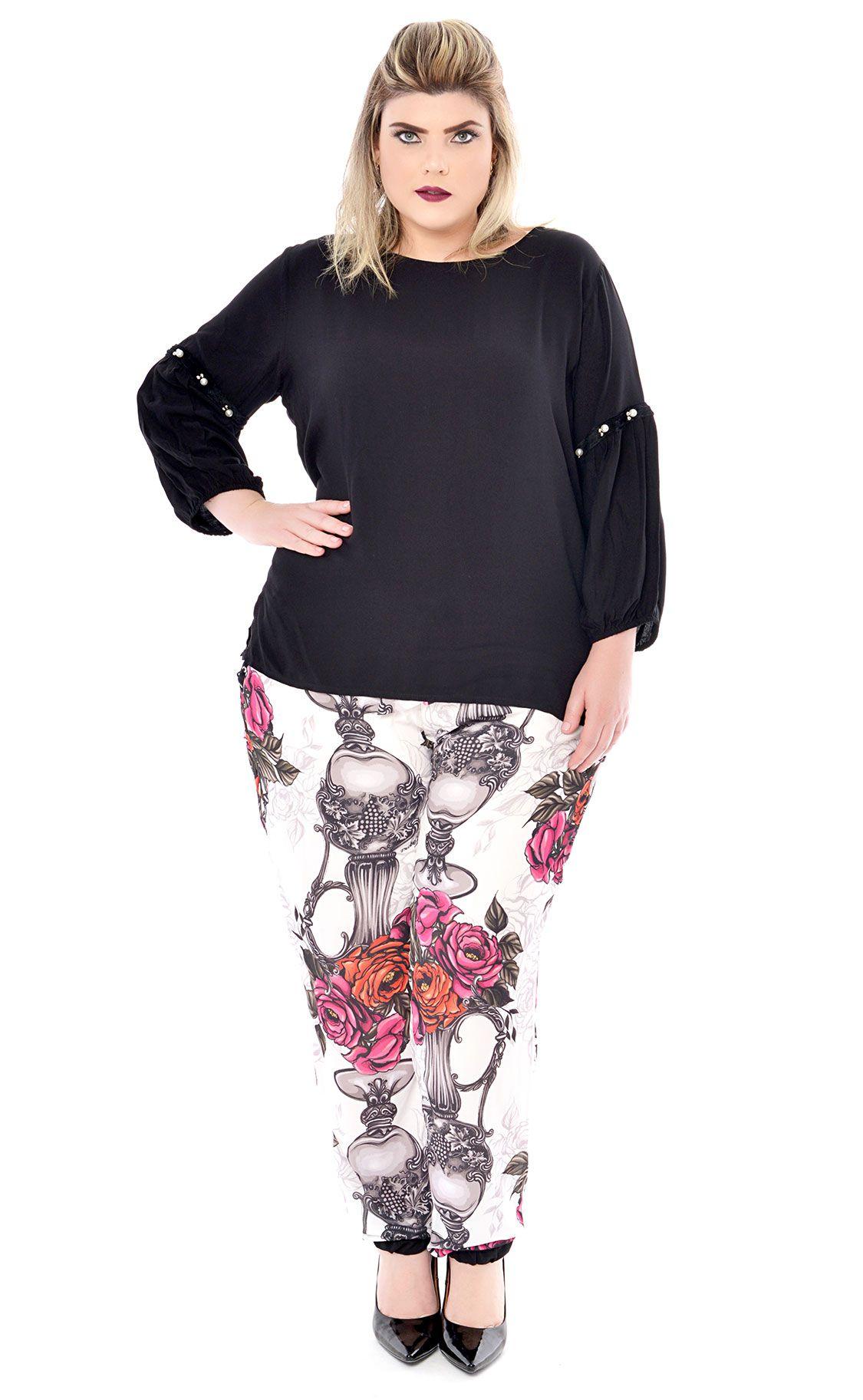 Blusa Plus Size Senza