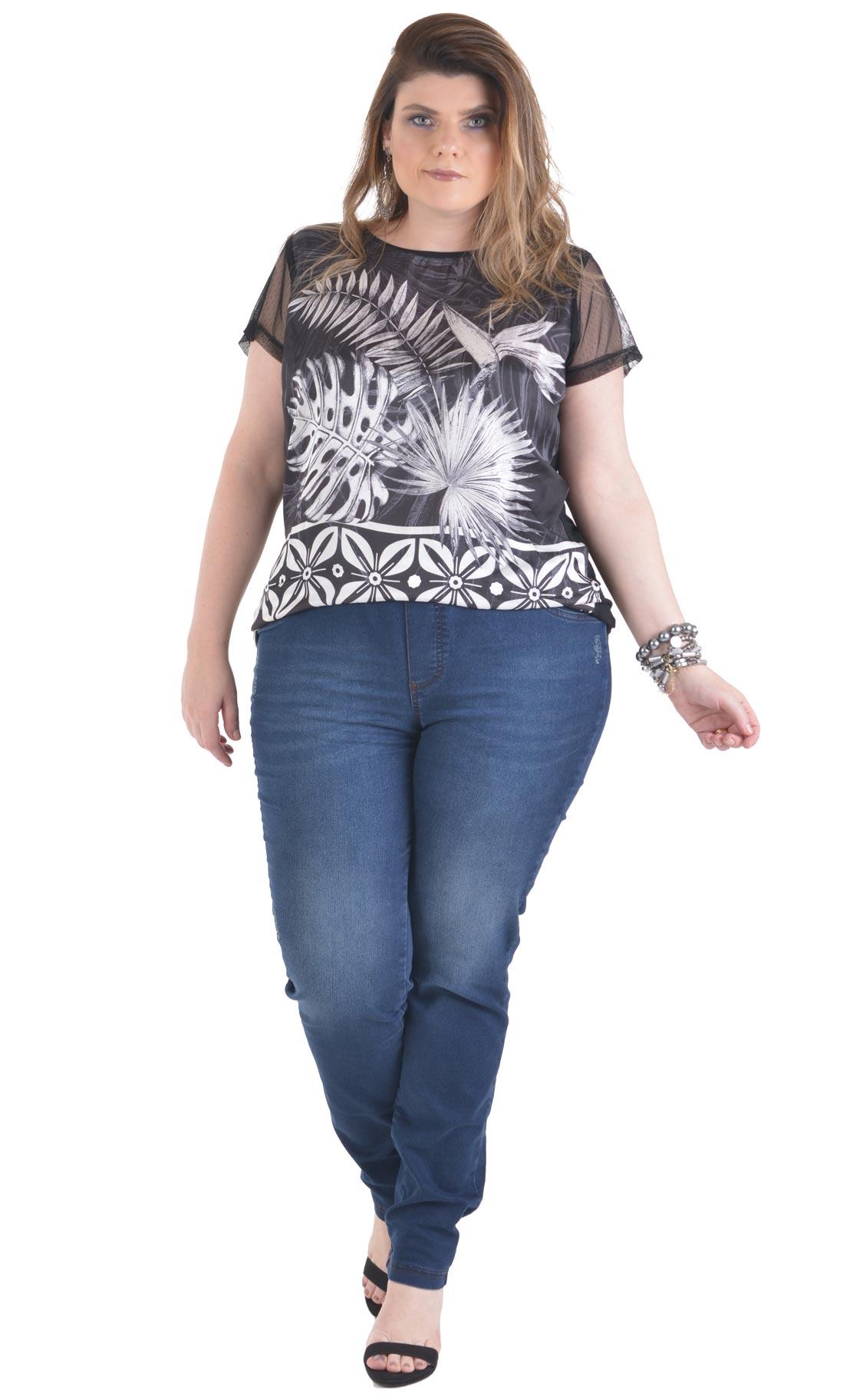 Calça Jeans Plus Size Blunavy