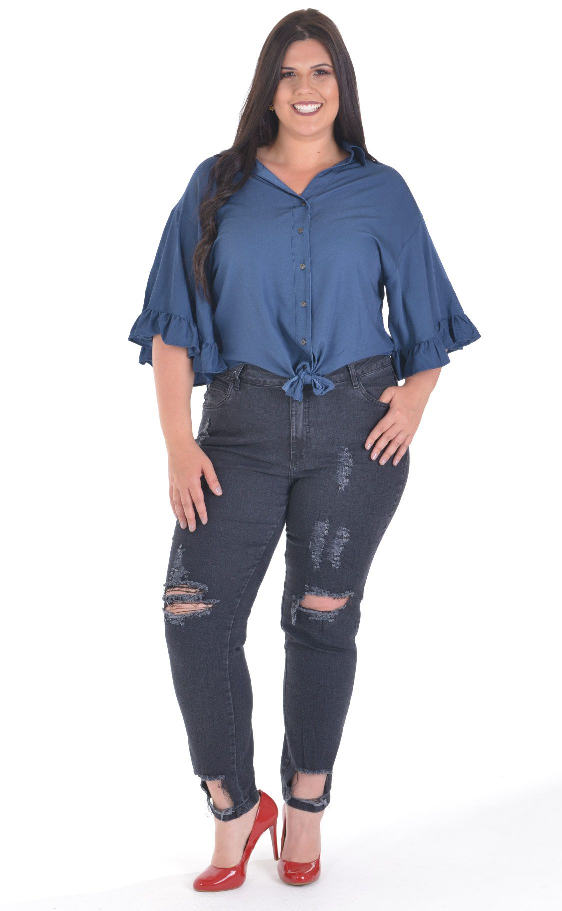 13d6a29894 ... Calça Jeans Plus Size Destroyed - Morezi Plus ...