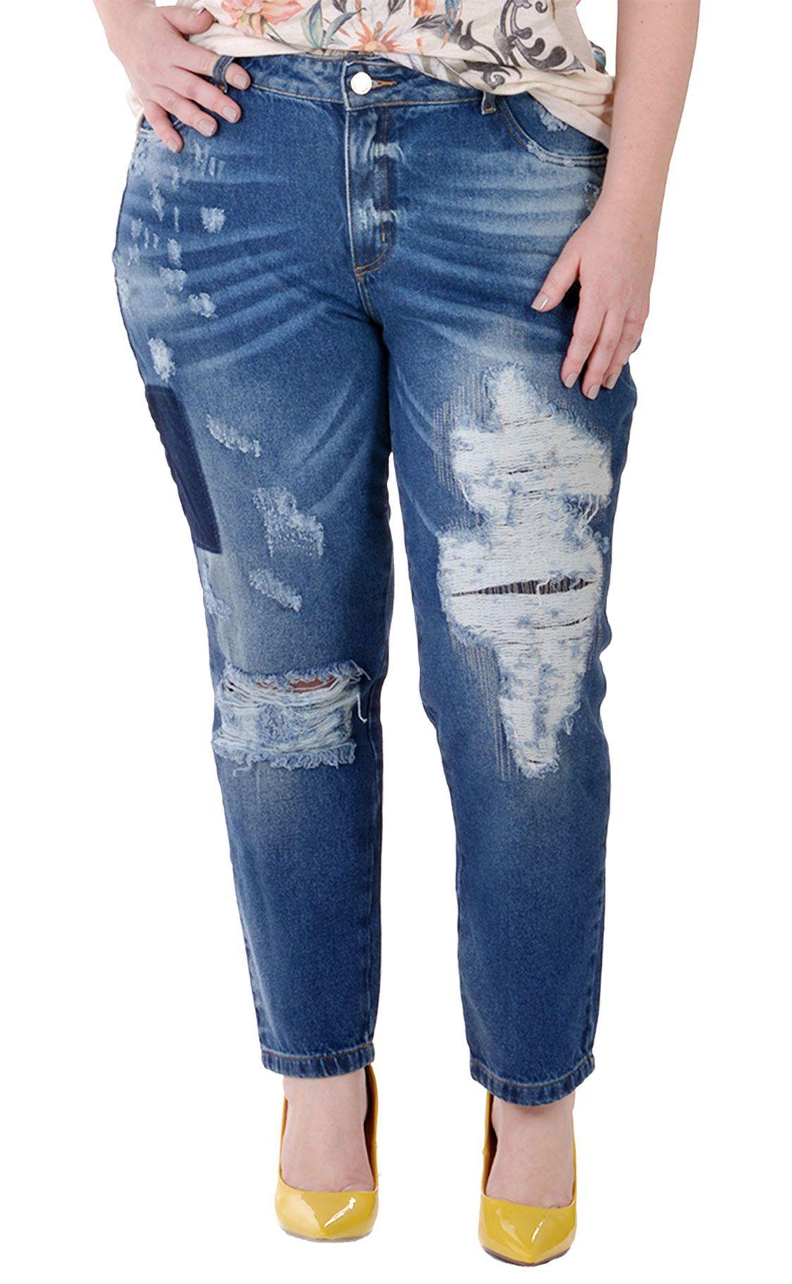 1d1557b1f Calça Jeans Plus Size Dunkel