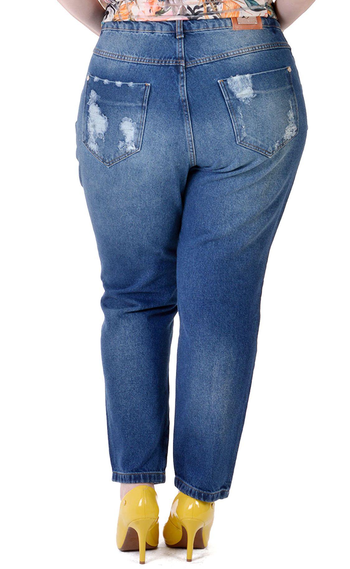 Calça Jeans Plus Size Dunkel