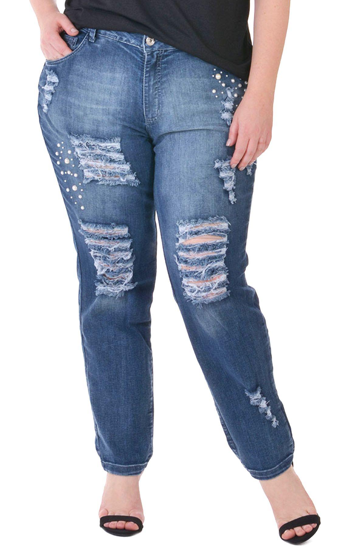 Calça Jeans Plus Size Perlen