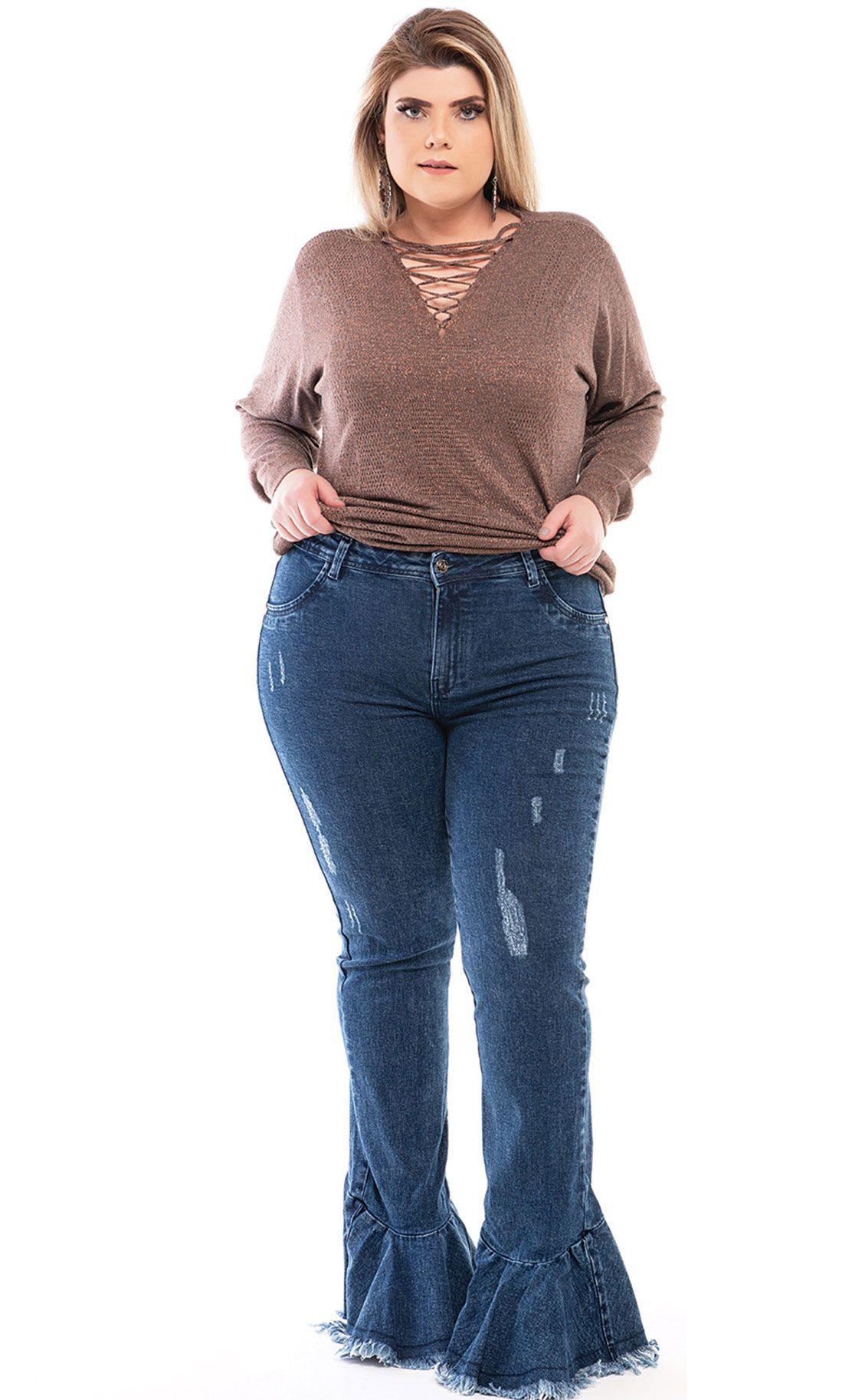 Calça Jeans Plus Size Zampa