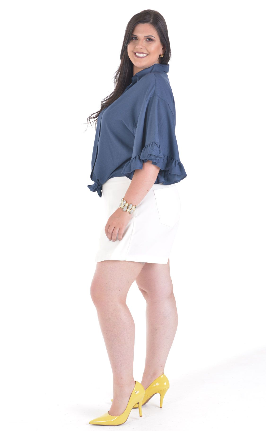 Camisa Plus Size Bracing