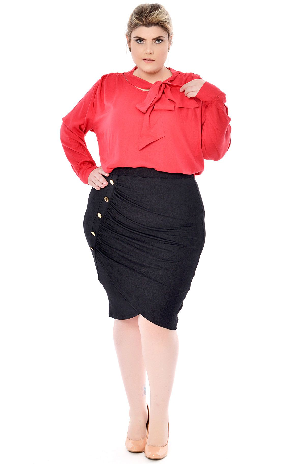 Camisa Plus Size Ribbon