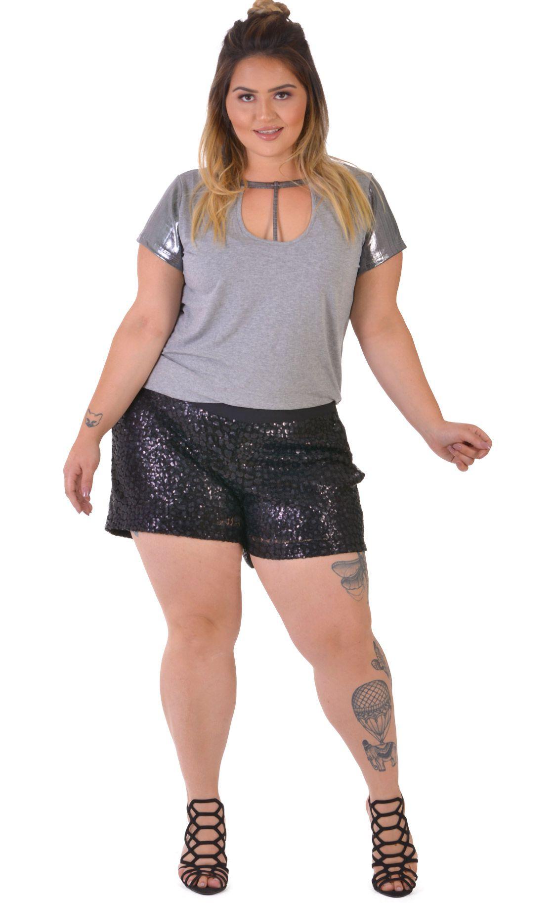 Blusa Plus Size Silber