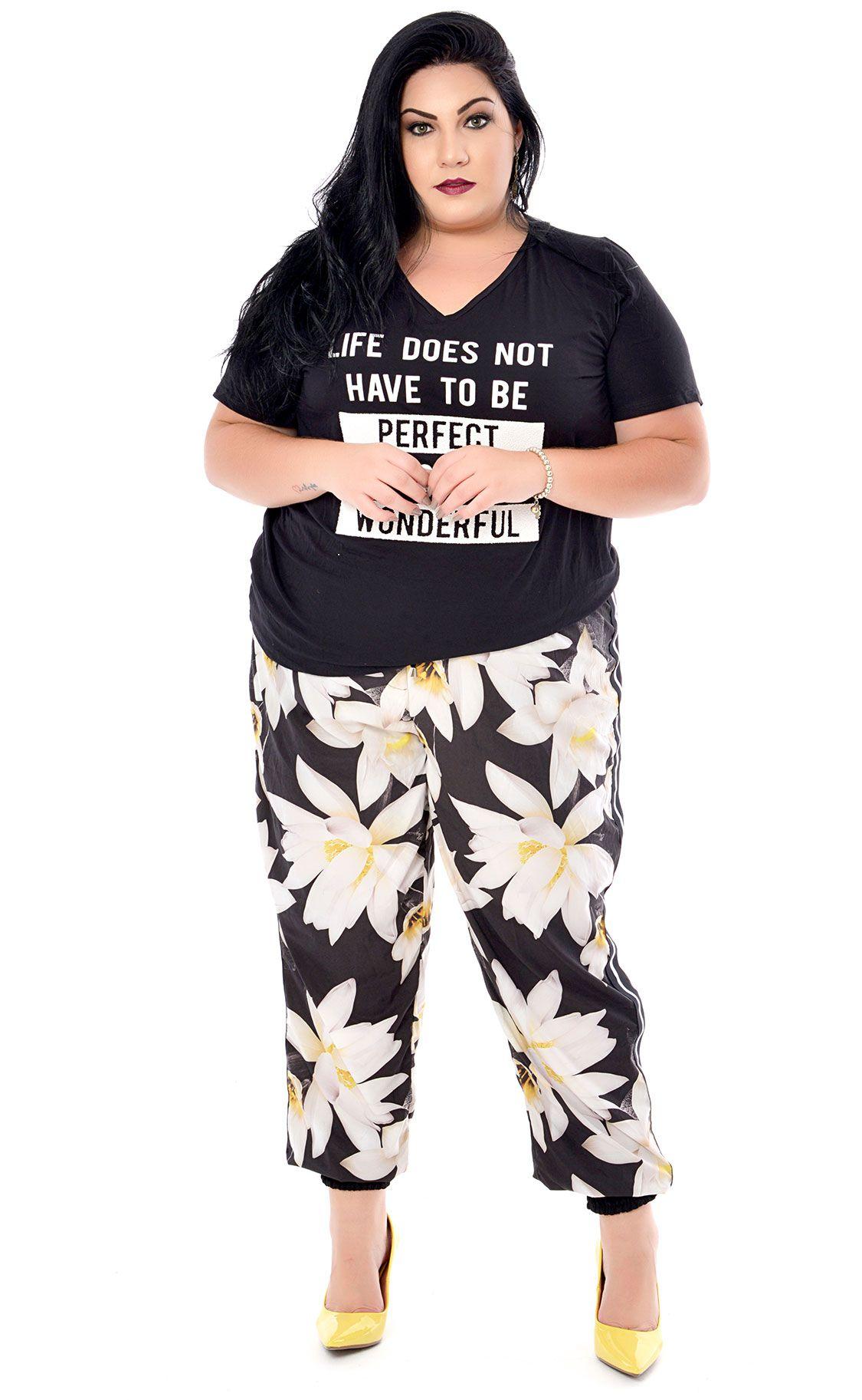 Camiseta Plus Size Border
