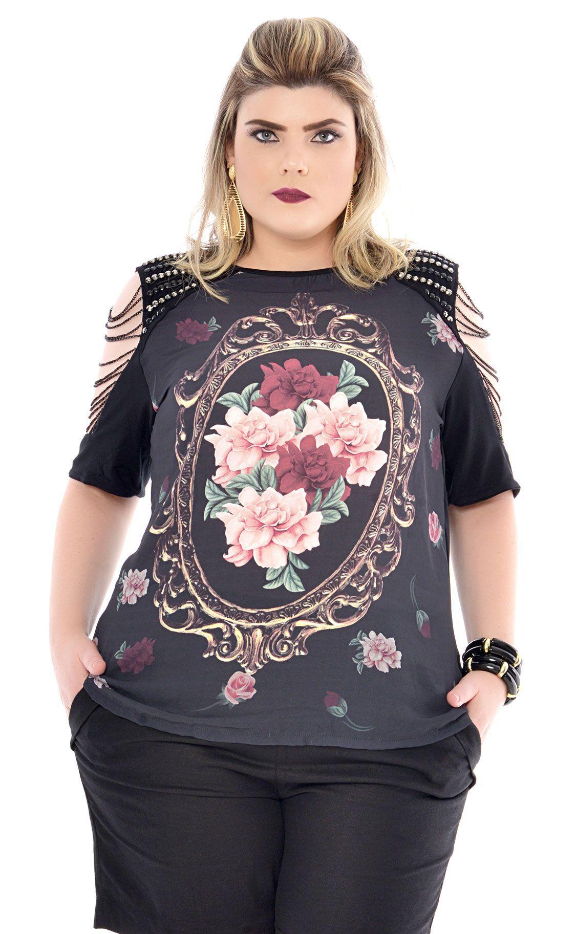 Camiseta Plus Size Chain