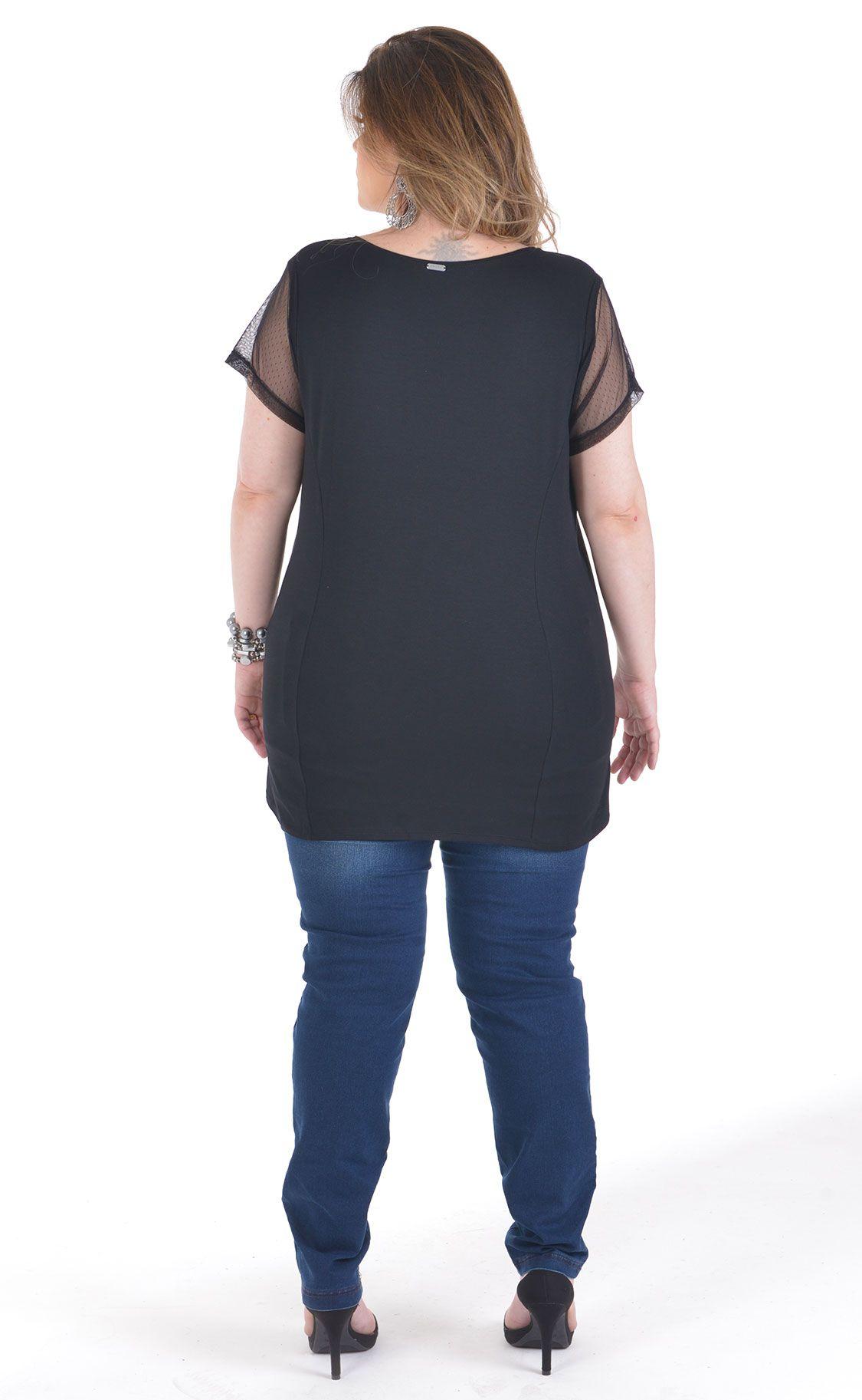 Camiseta Plus Size Goffer