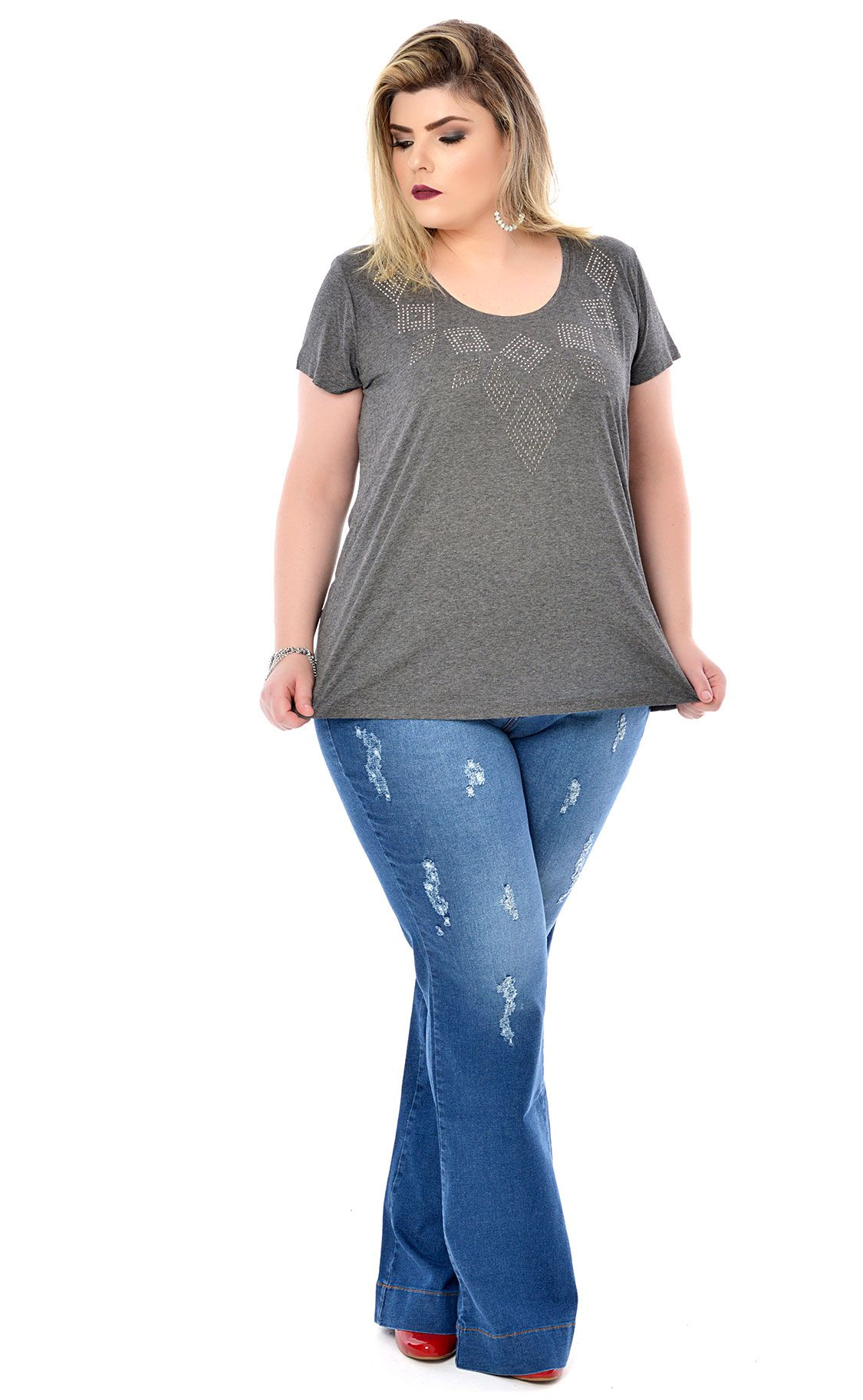 Camiseta Plus Size Hotfix