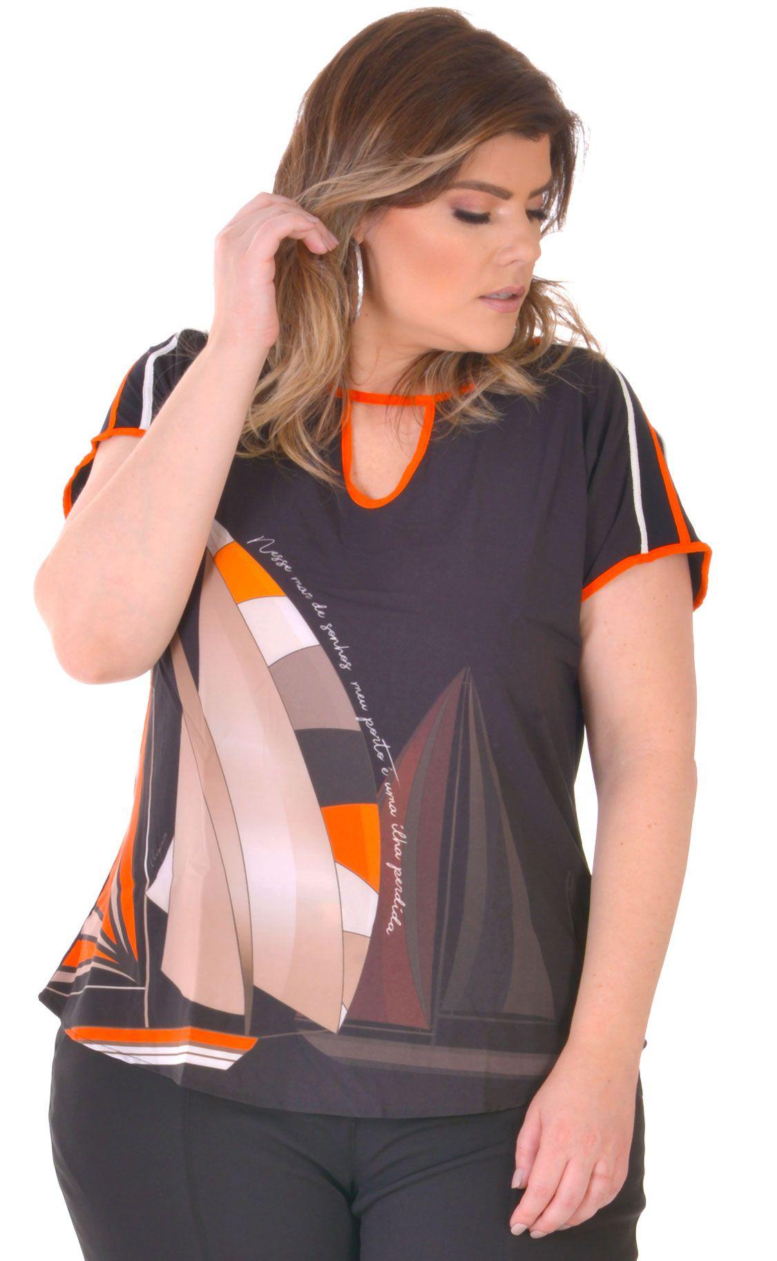 Camiseta Plus Size Nave