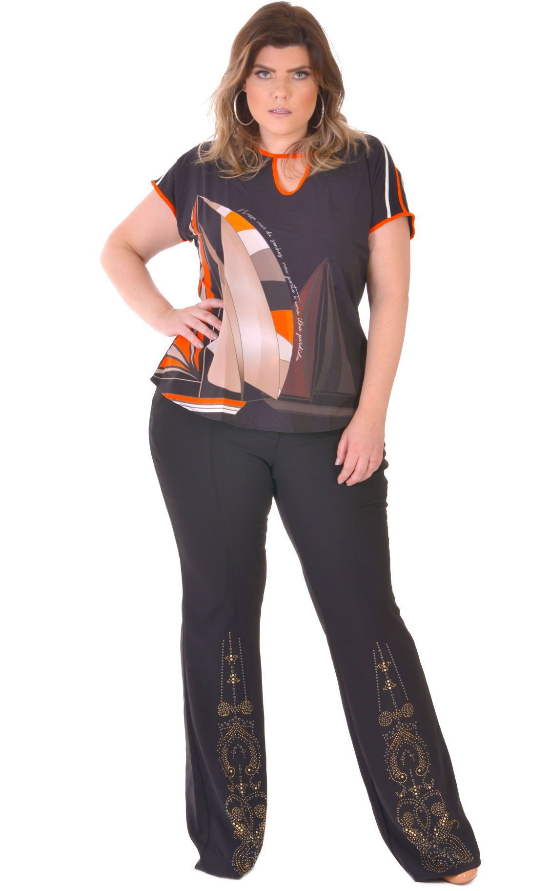 Camiseta Plus Size Nave