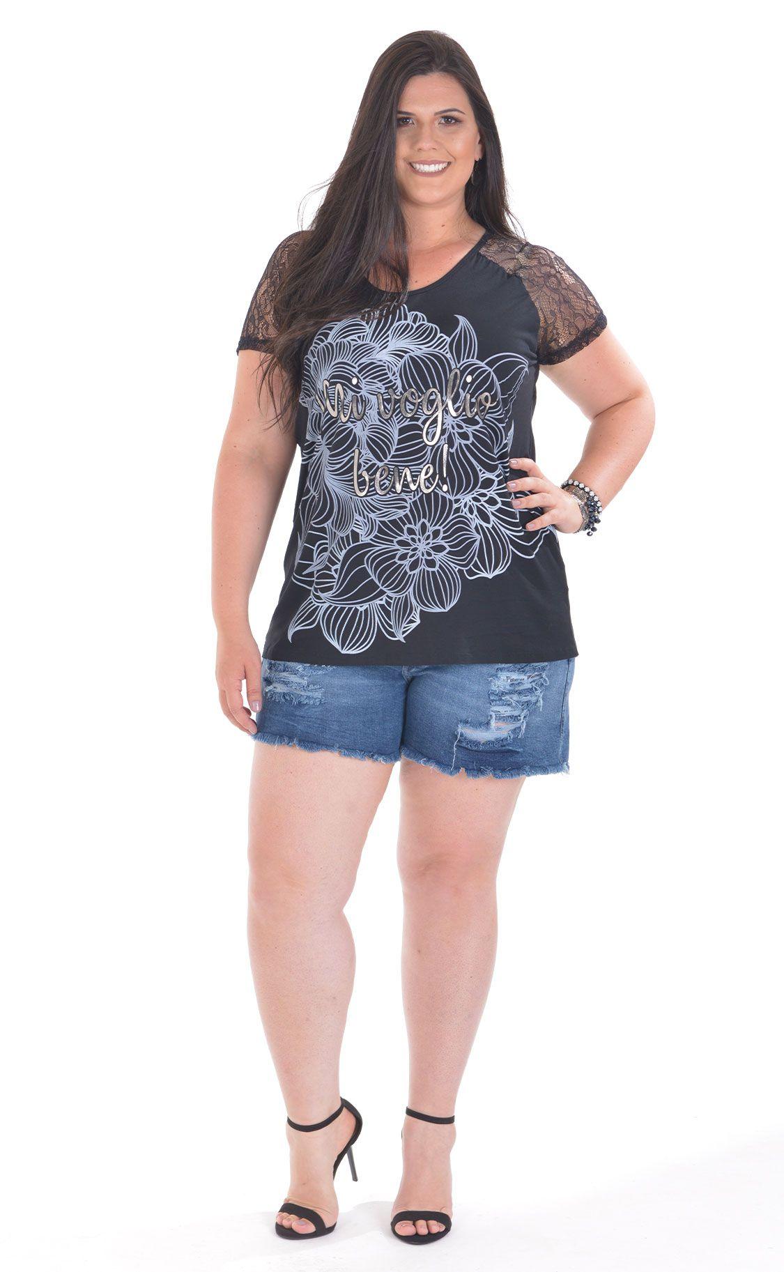 Camiseta Plus Size Plata