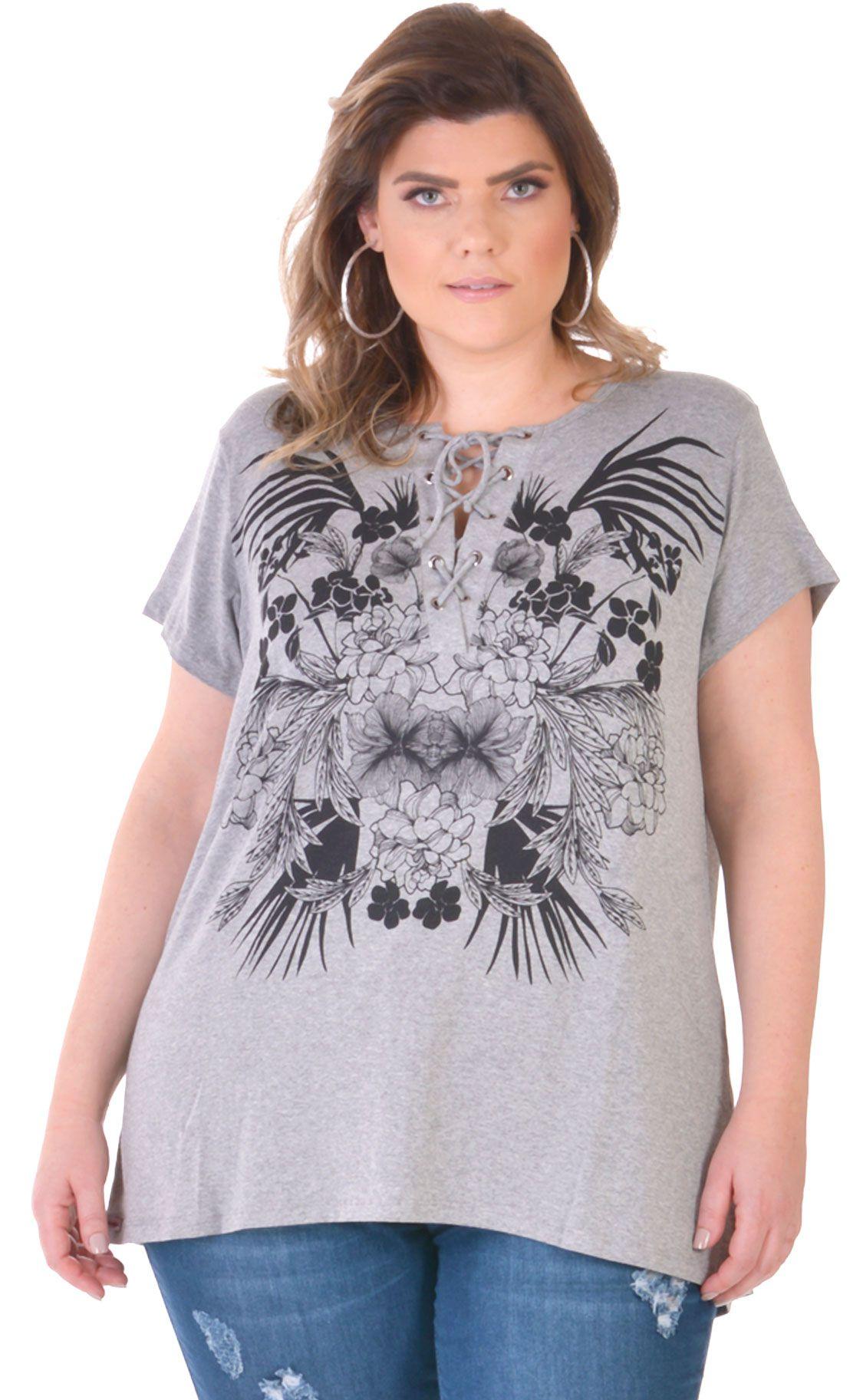 Camiseta Plus Size String