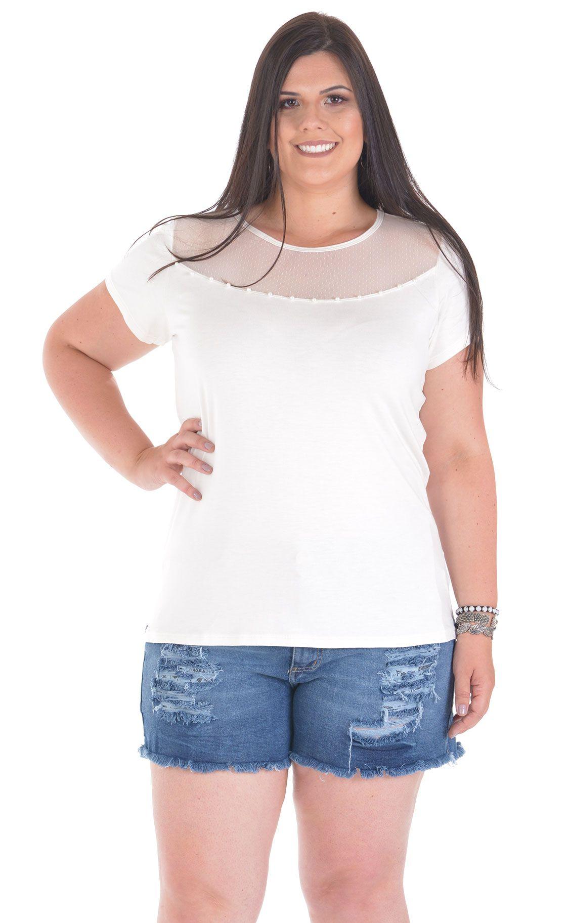 Camiseta Plus Size Tulle