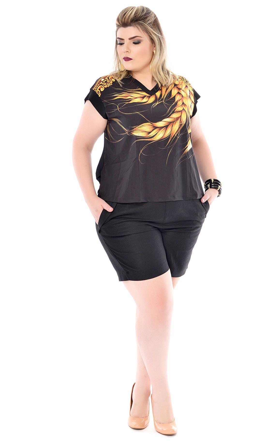 Camiseta Plus Size Weizen