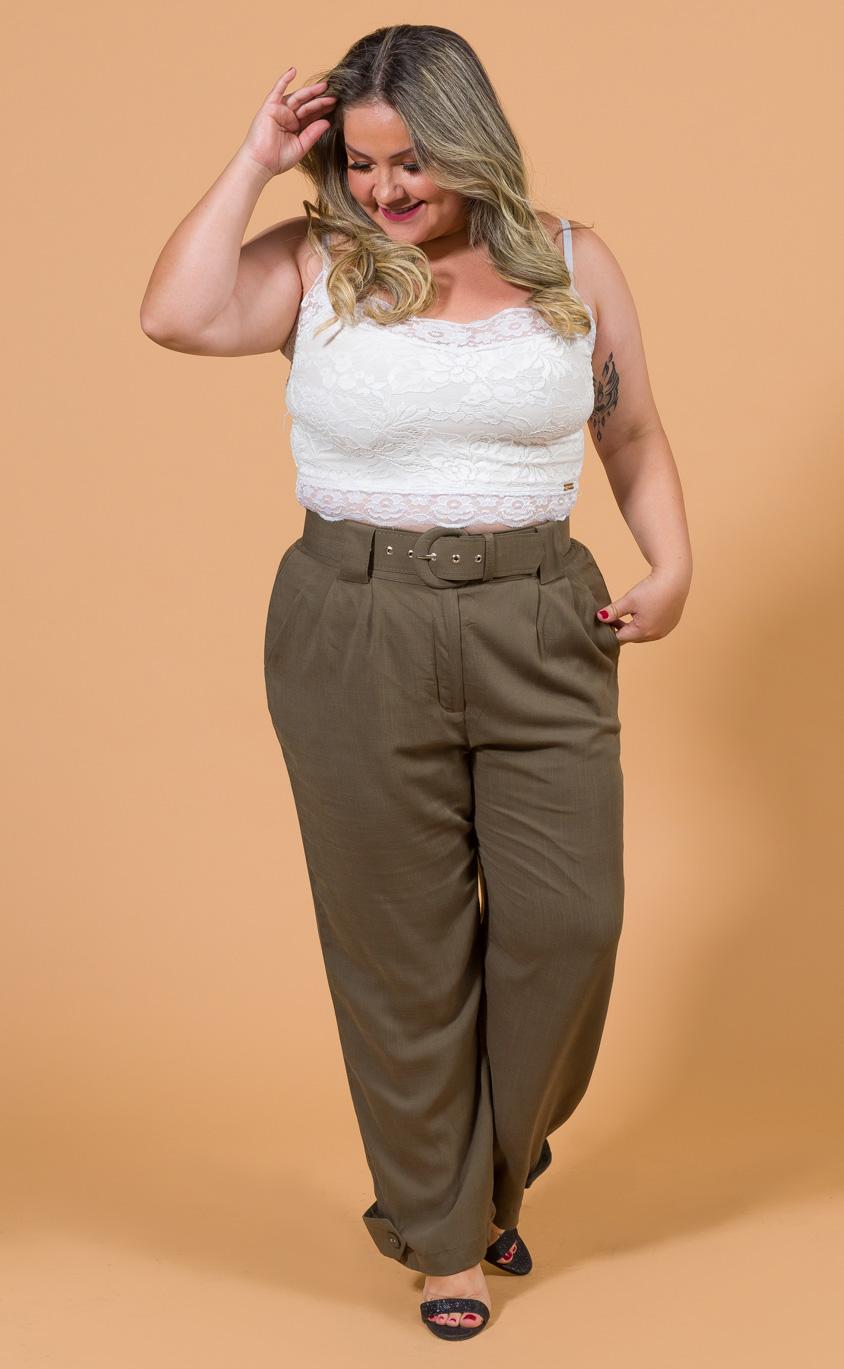 Top de Renda Plus Size Jasmine